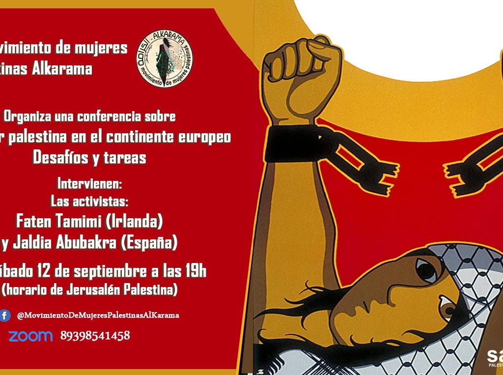 Simposio el sábado 12 de septiembre sobre la realidad de las mujeres palestinas en el continente europeo